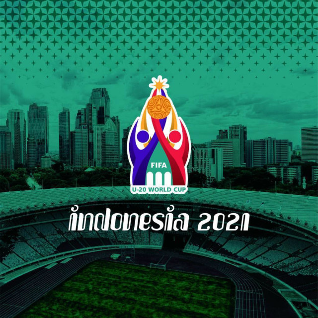 Logo Piala Dunia U-20 di Indonesia.