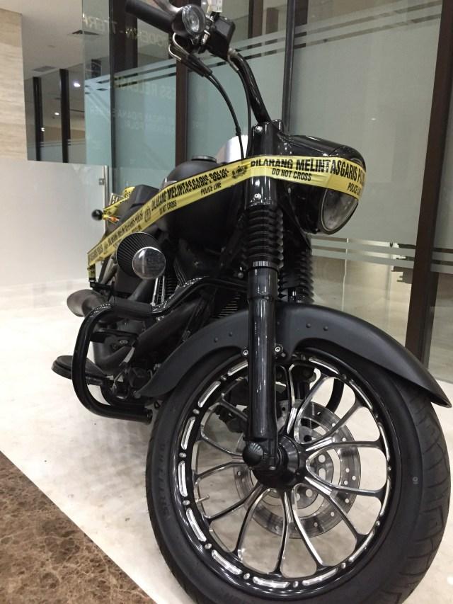Harley Davidson dipamerkan di Bareskrim Polri