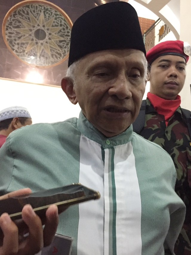 Ketua Dewan Kehormatan PAN, Amien Rais, POTRAIT