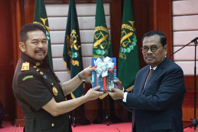 Foto: Serah Terima Jabatan Jaksa Agung dari Prasetyo ke ST Burhanuddin (59272)