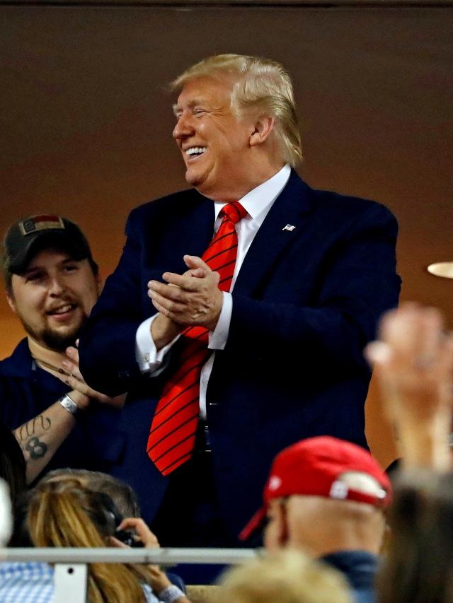 World Series 2019, Donald Trump, POTRAIT