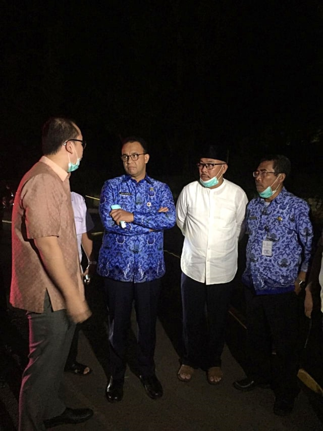 Gubernur DKI Anies Baswedan tinjau kebakaran di RS Mayapada, POTRAIT