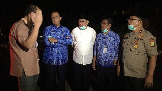 Gubernur DKI Anies Baswedan tinjau kebakaran di RS Mayapada