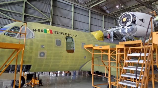 Hanggar pesawat milik PT Dirgantara Indonesia (Persero) atau PTDI di Bandung, Jawa Barat