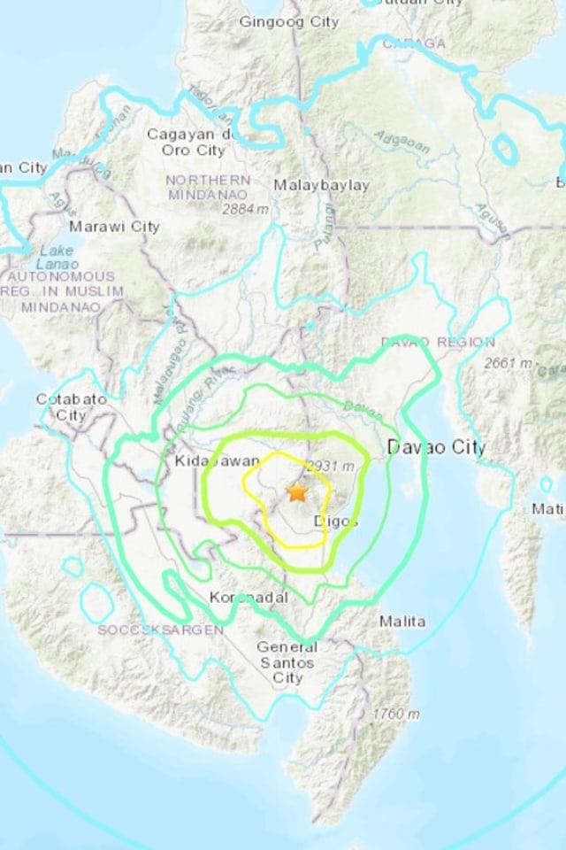 PTR, Gempa di Filipina