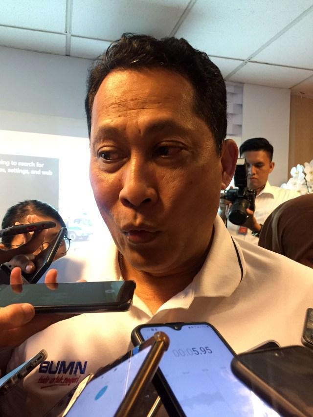 (POTRAIT) Direktur Utama Perum Bulog Budi Waseso di Gedung BUMN, Jumat