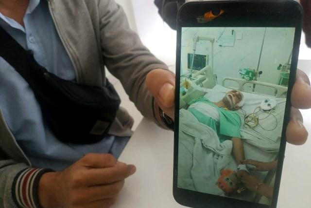 Dylan Carr saat menjalani perawatan di rumah sakit.