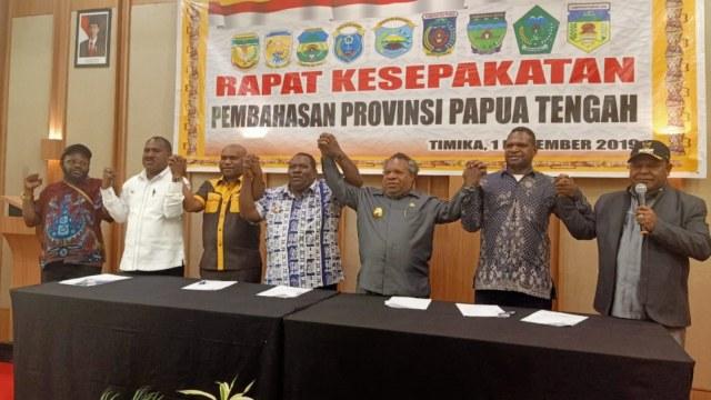 Surat kesepahaman, Provinsi Papua Tengah