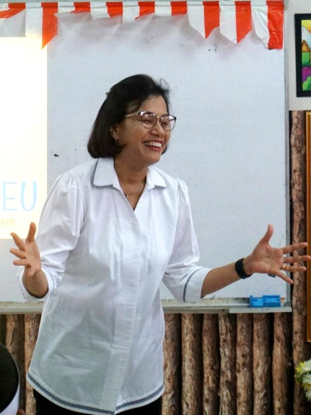 POTRAIT, Menkeu Sri Mulyani mengajar siswa SD