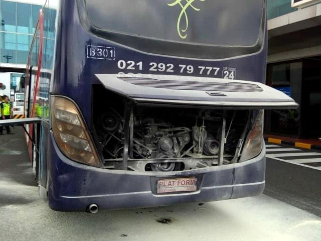 POTRAIT, Kebakaran bus Sriwijaya Airlines