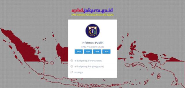Tangkapan layar website apbd.jakarta.go.id