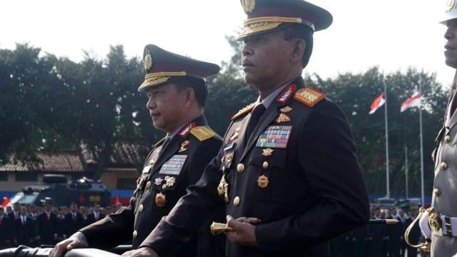 Jenderal (Purn) Polisi Tito Karnavian dan Jenderal Polisi Idham Azis, Jakarta, pada Rabu