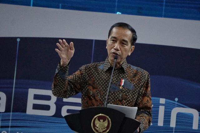 Presiden Joko Widodo meresmikan Indonesia Banking Expo (IBEX) 2019