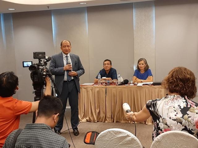 Konfrensi pers partai oposisi Kamboja di Jakarta