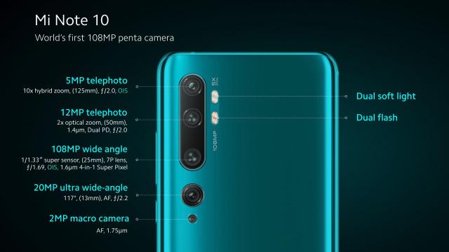 Awal 2020, Xiaomi Bawa Mi Note 10 Kamera 108 MP di Indonesia (35553)