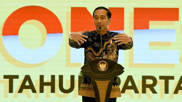 HUT Golkar ke 55, Jokowi