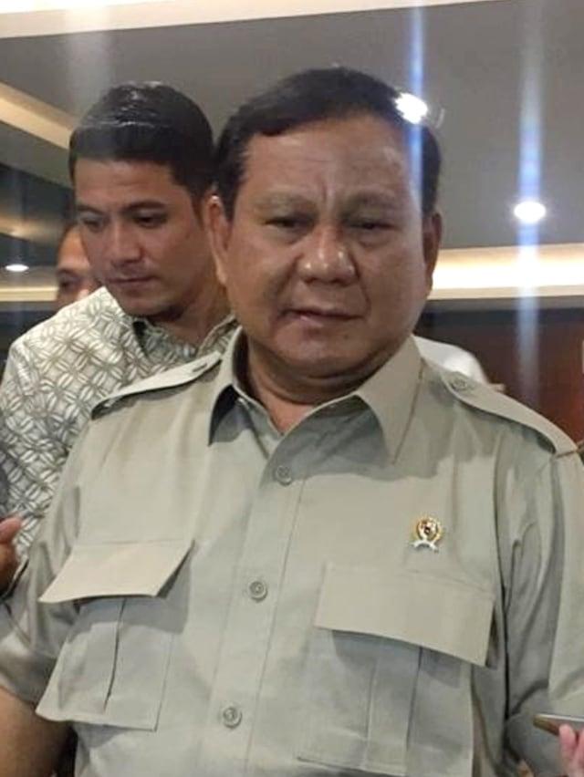 PTR, Menhan Prabowo Subianto