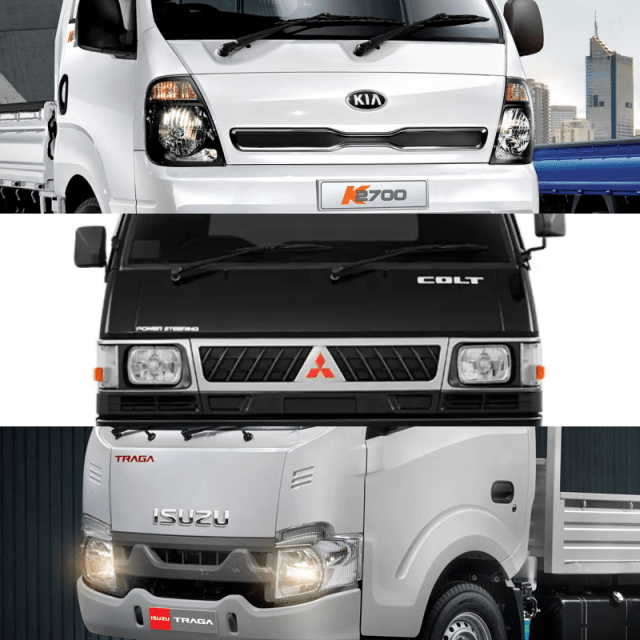 Komparasi Kia Big-Up, Isuzu Traga, Mitsubishi L300