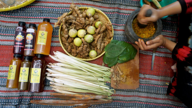 Ilustrasi Jamu tradisional
