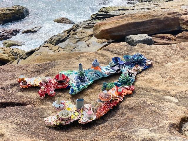Karya seni di Sculpture by the Sea.