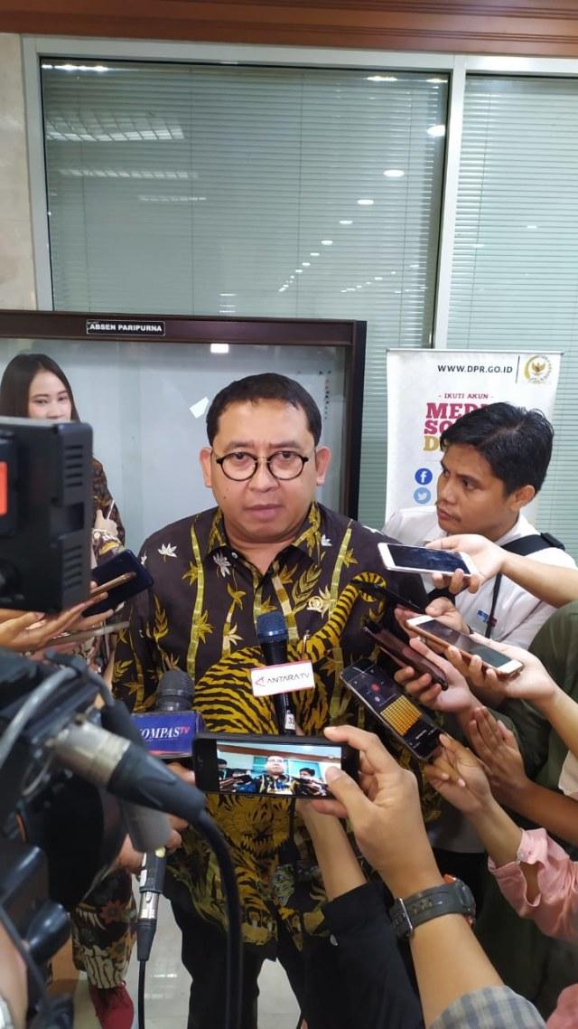 PTR, Anggota DPR Komisi I Fraksi Gerindra, Fadli Zon