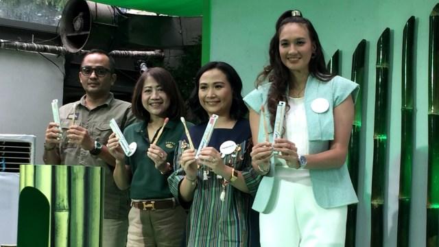 Peluncuran sikat gigi bambu Pepsodent