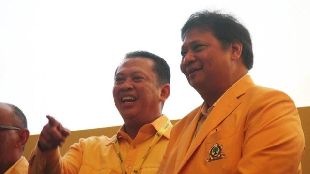 Rapimnas Partai Golkar, Airlangga, Bamsoet