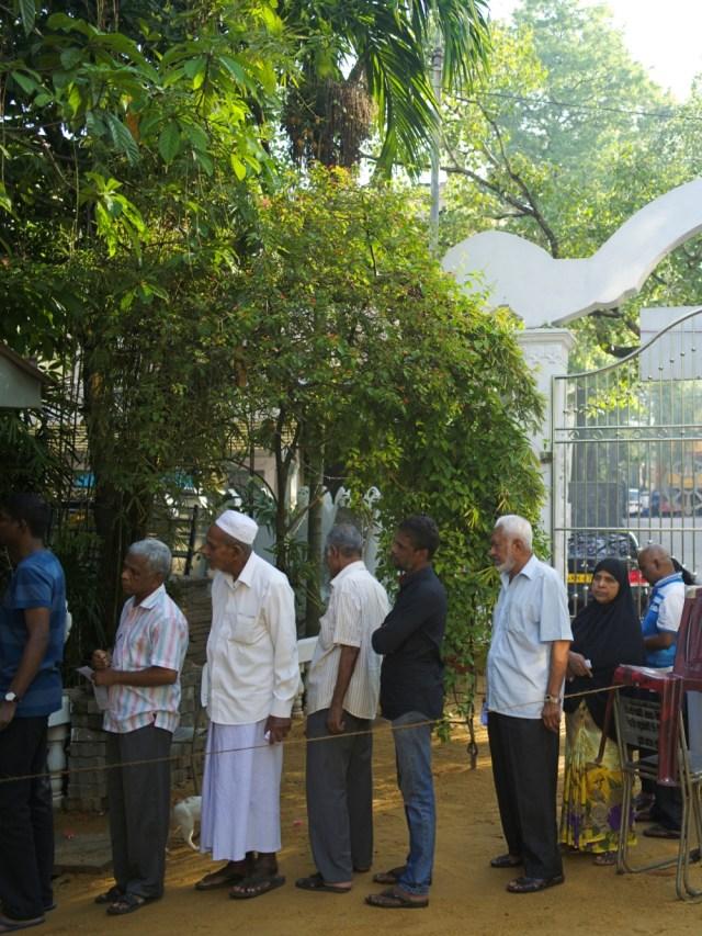 PTR, Warga muslim Sri Lanka, Pemilihan Presiden di Srilanka