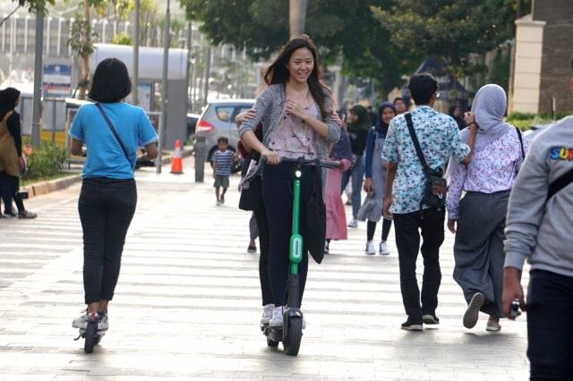 Pengguna Grabwheels di Sudirman