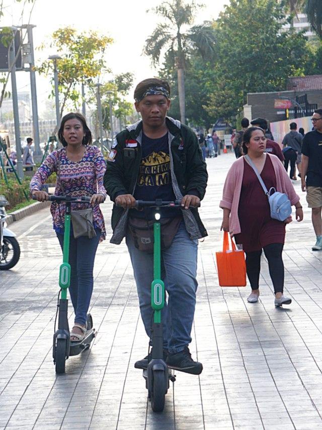 PTR, Pengguna Grabwheels di Sudirman