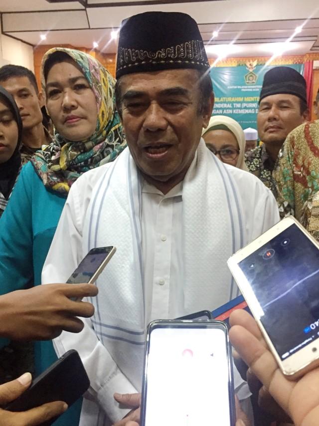 PTR, Menag RI Fachrul Razi di Aceh