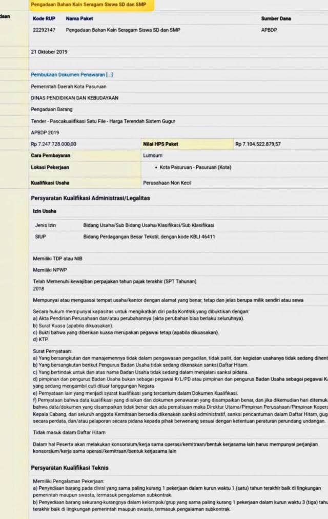 Anggaran Wah Seragam Sekolah Kota Pasuruan (21453)