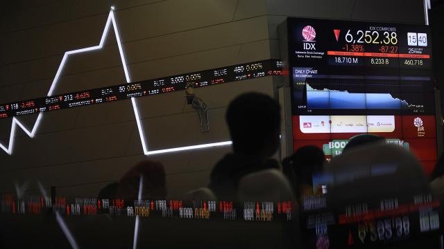 Kompak dengan Bursa Asia, IHSG Sesi I Ditutup Merah (537018)