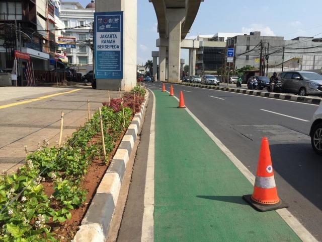 Makin Nyaman Bersepeda di Jalur Sepeda Jakarta (68443)