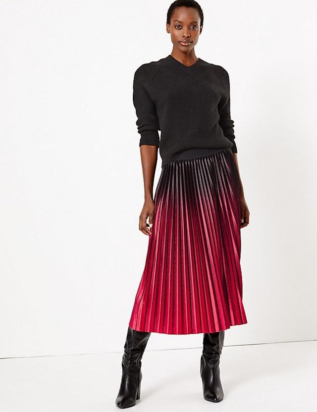 Pleated Skirt - Mark & Spencer