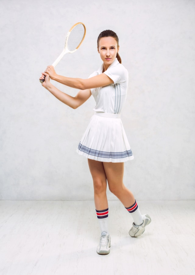 Ilustrasi Rok Tennis Perempuan