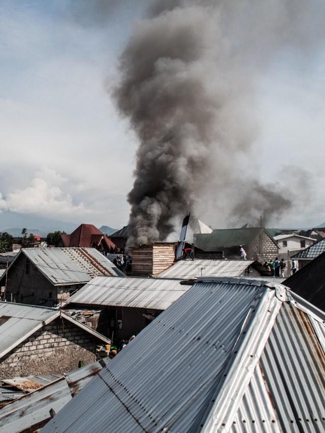 PTR, pesawat jatuh di Goma, Kongo