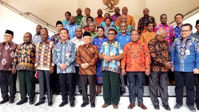 Wakil Presiden Ma'ruf Amin menerima Majelis Rakyat Papua