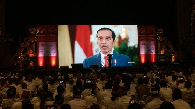Video Presiden Jokowi, rapimnas kadin di Bali