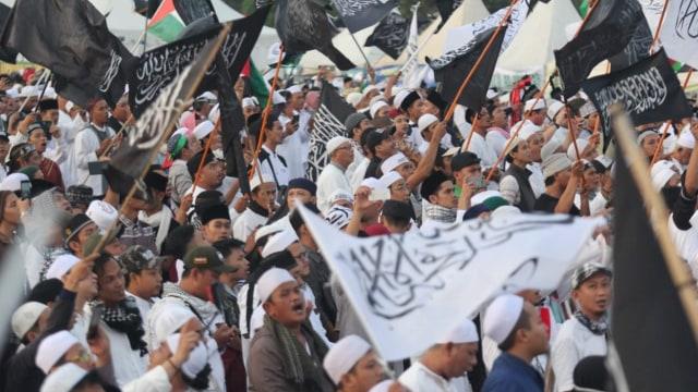 FPI-PA 212 Demo di Kedubes India 6 Maret, Protes Kekerasan terhadap Muslim (369111)