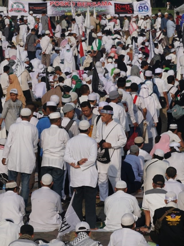 FPI-PA 212 Demo di Kedubes India 6 Maret, Protes Kekerasan terhadap Muslim (369110)