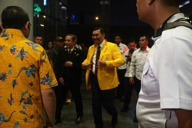 Luhut Binsar Panjaitan tiba di JHL. Solitaire hotel