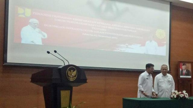 Mentan dan Menteri PUPR Sepakat Bangun Infrastruktur Ketahanan Pangan (13592)