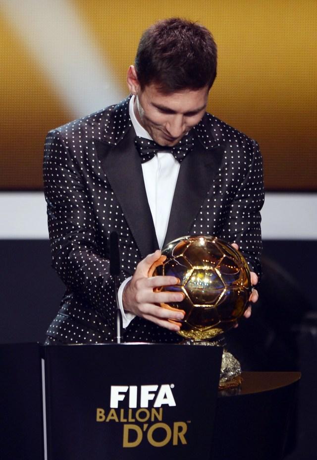 Lionel Messi, Ballon d'Or 2012, POTRAIT