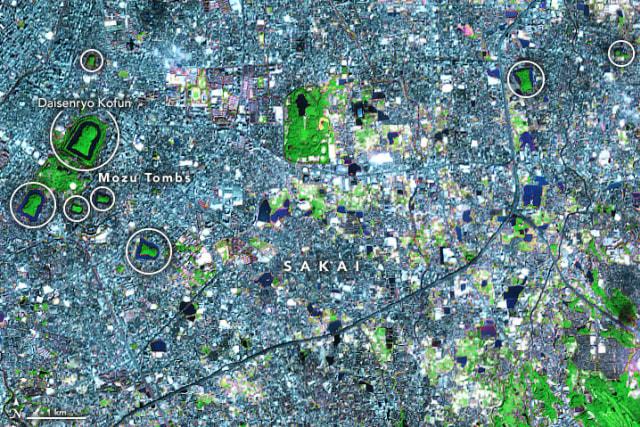 Citra Satelit NASA Ungkap Makam Kuno di Jepang