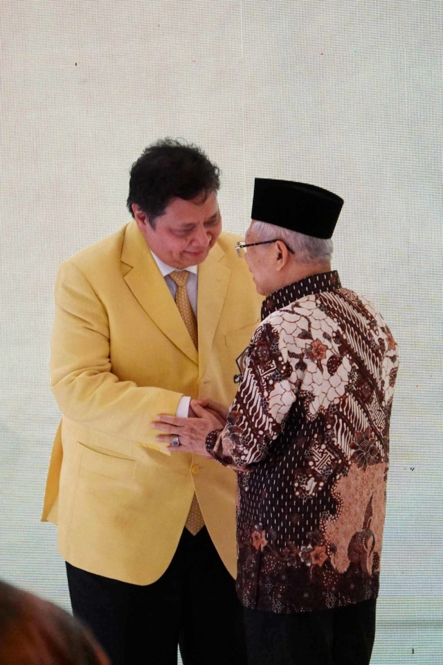 Foto: Ma'ruf Amin Tutup  Munas Golkar yang Sejuk (1271824)