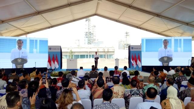Jokowi Resmikan Pabrik Polyethylene di Cilegon: Bisa Kurangi Impor  (63000)