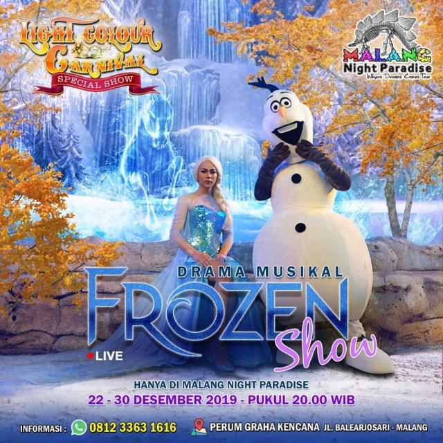 Frozen Show, Pertunjukan Keren Akhir Tahun di Malang Night Paradise (34062)
