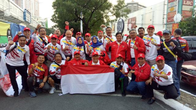 Timnas U-23 vs Vietnam: Pendukung Kedua Tim Mulai Padati Stadion (234152)