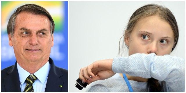 Kolase Jair Bolsonaro dan Greta Thunberg